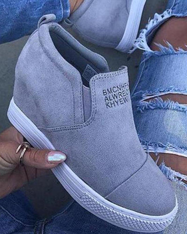 Solid Slip-On Platform Sneaker
