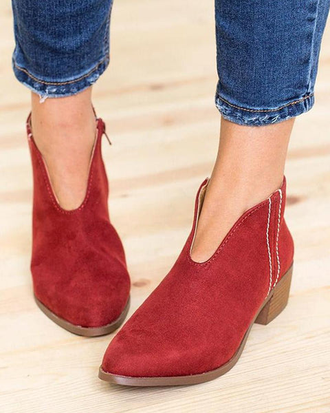 Slip-On Low Ankle Bootie