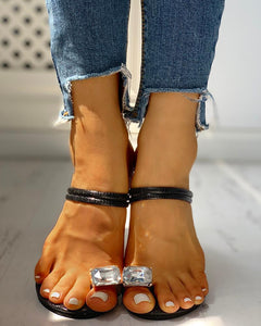 Studded Double Strap Chunky Sandals