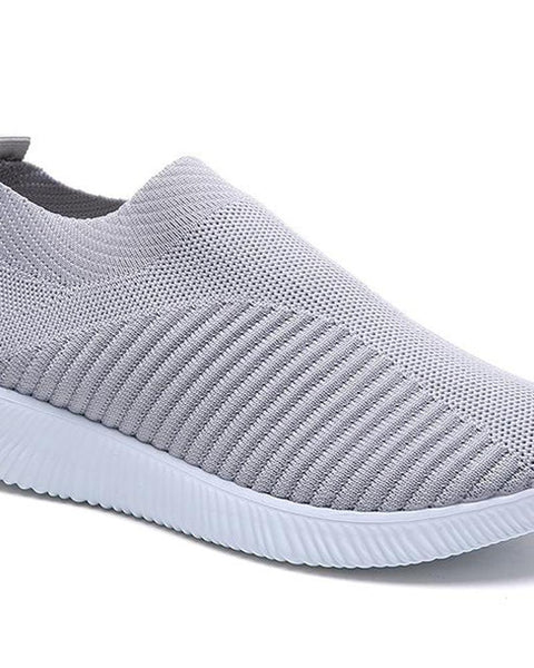 Solid Perforated Slip On Sneaker