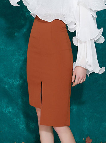 Summer Elegant Slit Mermaid Date Midi Skirt