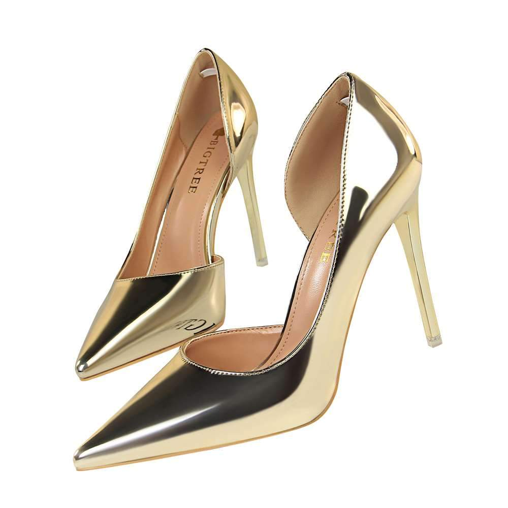 High-heeled Hollow out Pointed Toe Pump Shoes