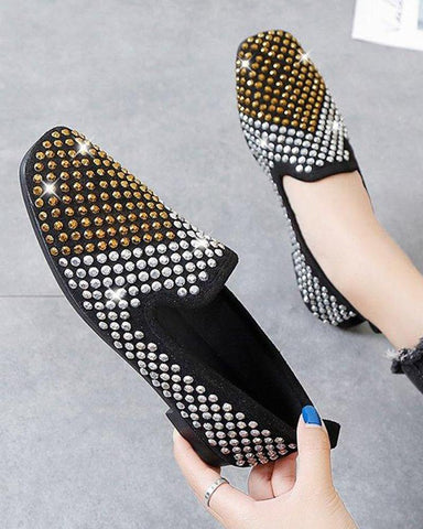 Sequin Slip-On Heeled Loafers