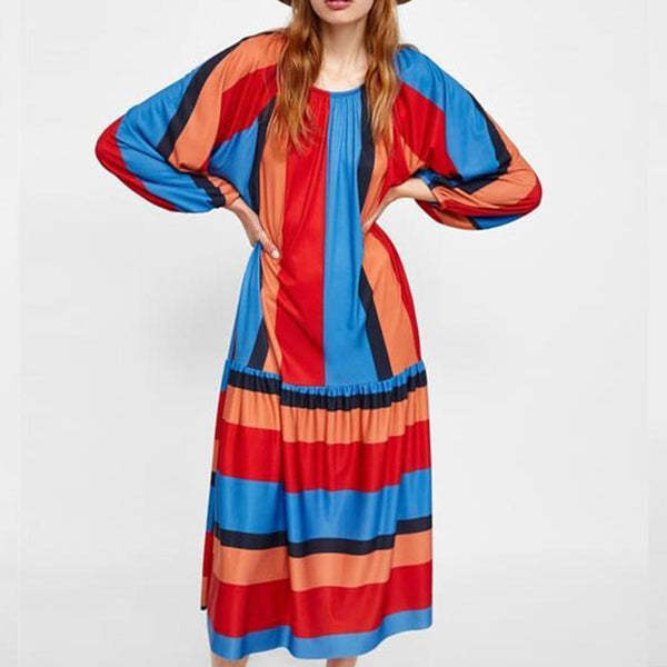 Popular Striped Loose Dress
