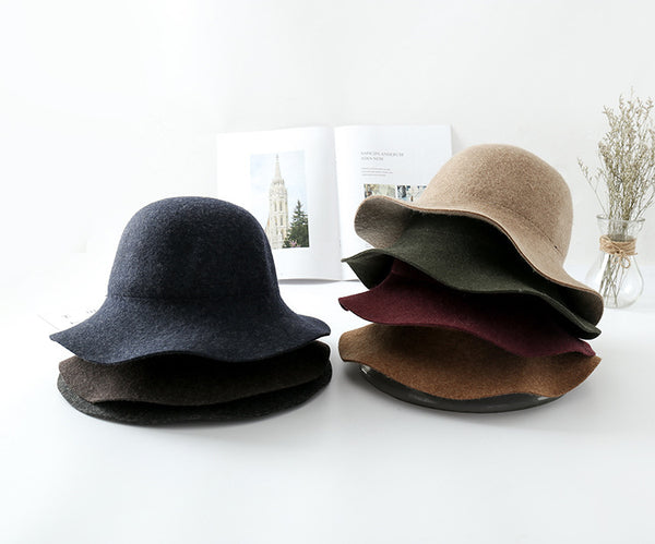 Elegant Fashion Feminine Fleece Flet Hat