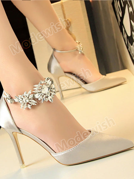 Ankle Strap Wedding Party Office Sexy Stilettos Pointed Toe High Heels Pumps Shoes