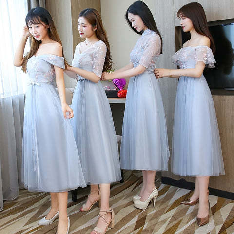 Embroidery Long Bridesmaid Dresses New Summer Wholesale Sister Wedding Party Prom Bridal Dress Plus Size Vestidos De Festa 960