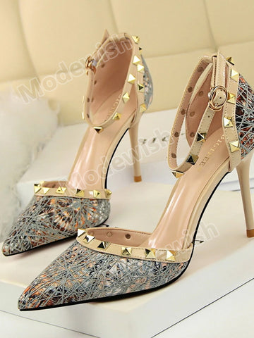 Women Fashion Summer Sequined Sexy Wedding Sandals High Heels Pumps