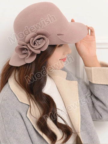 Women's Autumn Winter Woolen Hat
