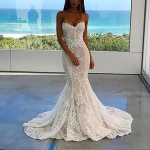 Women's Sexy Off-shoulder Tube top Lace Resist Evening Dress