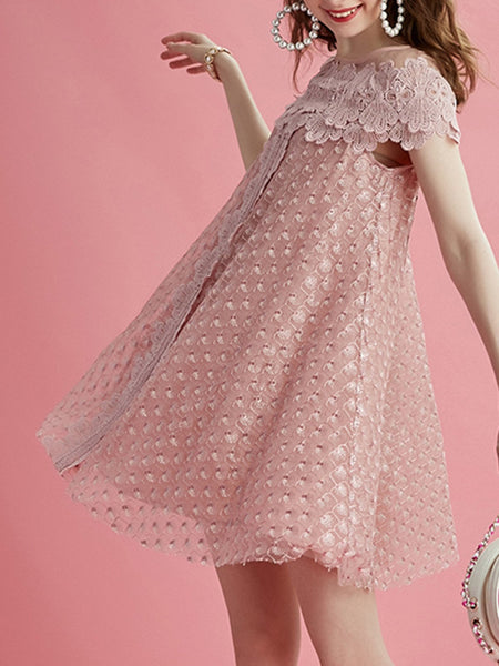 Pink Shift Sweet Midi Dress