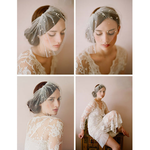 Wedding Bridal Birdcage Face Veil  Evening Party Veils With Comb