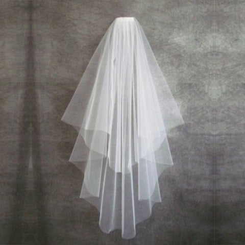 Wedding Accessories Short Simple White Ivory Two Layer Bridal Veil