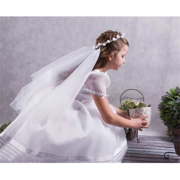 Short 2 Layers Wedding Flower Girls First communion Veils With Comb