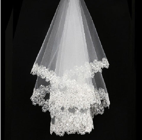 Wedding accessories short bridal veils without comb