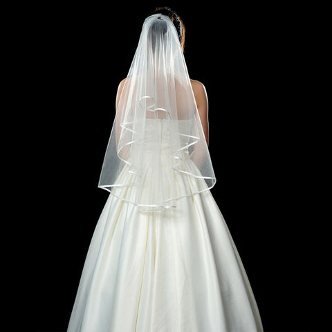 Short Tulle White Ivory Two Layers Wedding Veils
