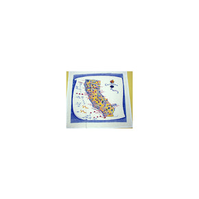 California State Souvenir Kitchen Towel - Blue