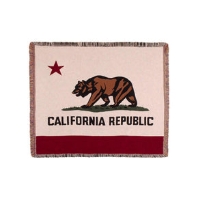 Simply Home Flag of California Tapestry Throw