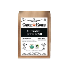 Coast Roast Espresso Coffee (Organic, Whole Bean)