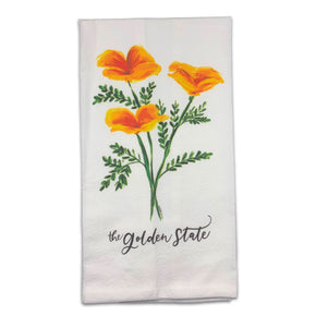 Golden Poppies Tea Towel
