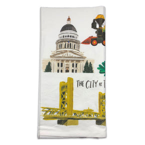 Sacramento Collage Tea Towel