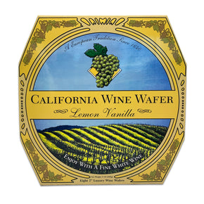 California Wine Wafer Cookies - Lemon Vanilla