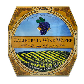 California Wine Wafer Cookies - Mocha Chocolate