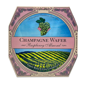 California Champagne Wafer Cookies - Raspberry Almond