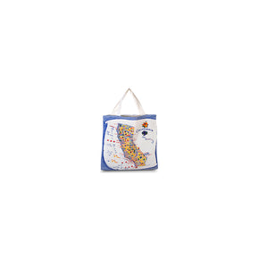 California Market Tote - Blue