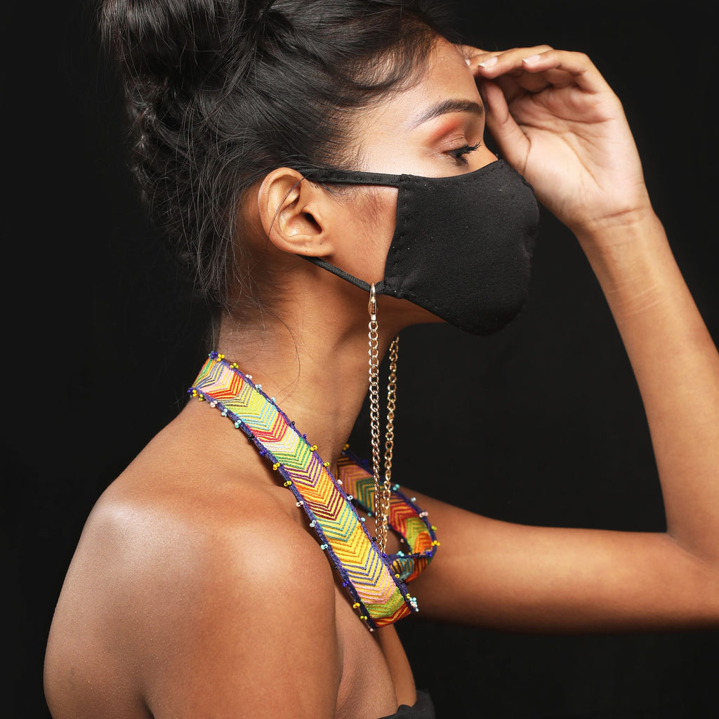 Madhurima Handcrafted Mask Chains