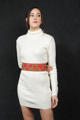 Pichwai hand embroidered waist belt by Gonecase