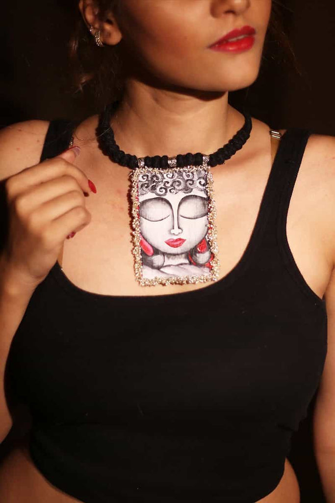 Handpainted Buddha Necklace by Gonecase ,, gonecasestore - gonecasestore