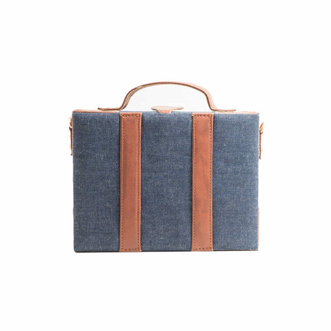 Brown Patch Sling Bag by gonecase ,, gonecasestore - gonecasestore