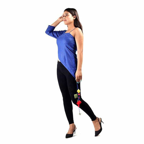 Blue Off Shoulder Top by Gonecase - Apparel - Gonecase