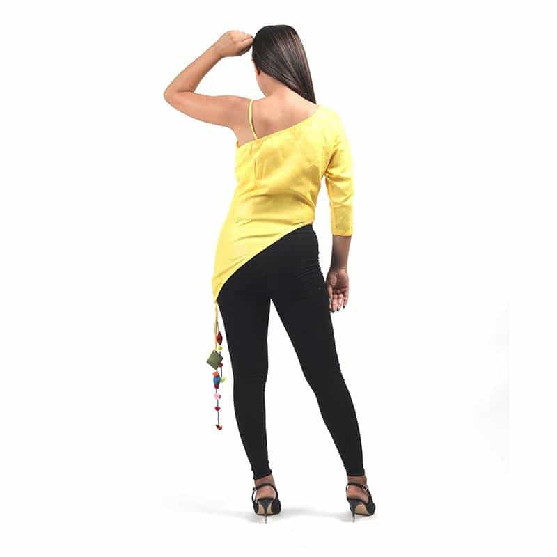 Yellow Off Shoulder Top by Gonecase ,Apparel, gonecasestore - gonecasestore