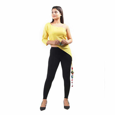Yellow Off Shoulder Top by Gonecase - Apparel - Gonecase