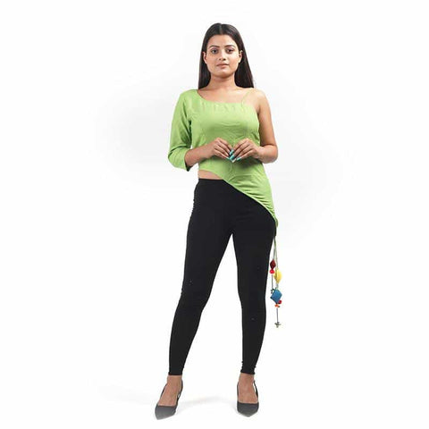 Green Off Shoulder Top by Gonecase - Apparel - Gonecase