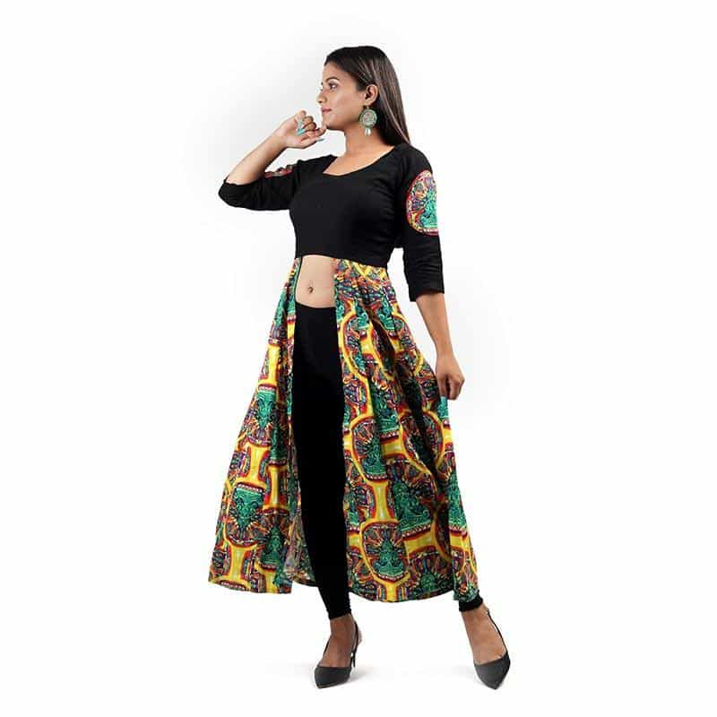 Long Tunic Green Yellow Pattern by Gonecase ,, gonecasestore - gonecasestore