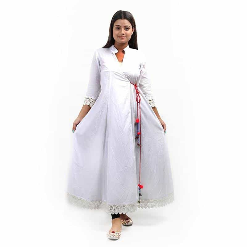 White Anghrakha Kurti Shrug - [product_type] - Gonecase