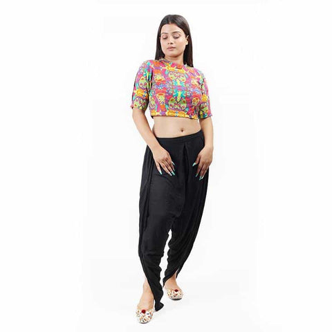 Abstract Printed Crop Top - [product_type] - Gonecase