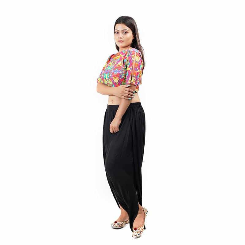 Abstract Printed Crop Top ,Designer Blouse, gonecasestore - gonecasestore