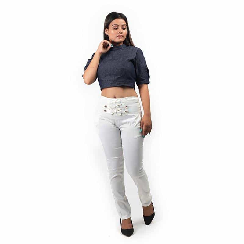 Denim Crop Top by Gonecase - Apparel - Gonecase