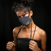 Image of Denim Evil Eye Handcrafted Mask by gonecase
