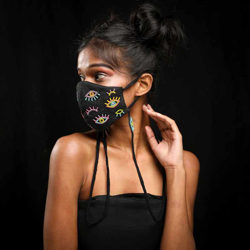 Evil Eye Handcrafted mask by gone case