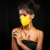 Image of Yellow Faces handcrafted mask by gonecase