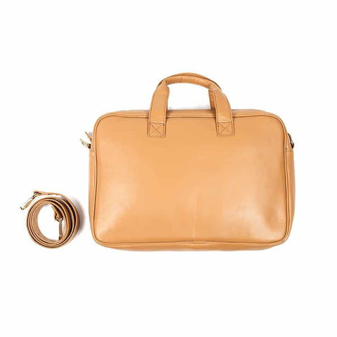 Basic Camel Color Laptop Bag by Gonecase ,laptop bags, gonecasestore - gonecasestore
