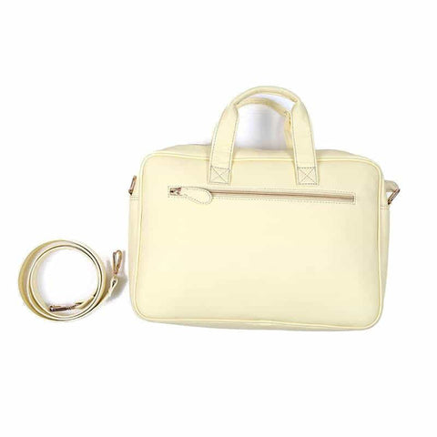 Basic Cream Color Laptop Bag by Gonecase