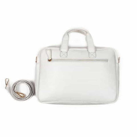 Basic White Laptop Bag by Gonecase
