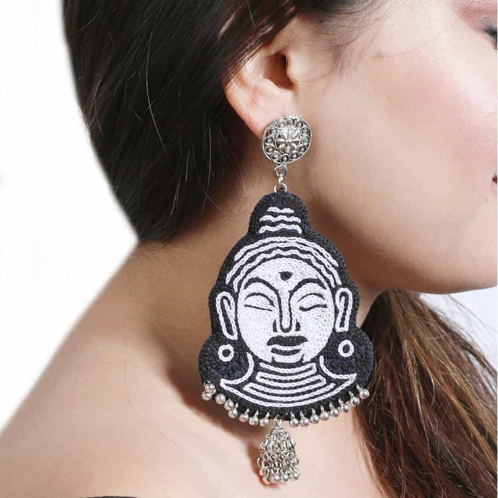 Budha Embroidery Earrings - gonecasestore