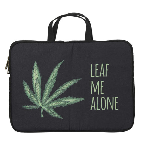 Leaf Me Alone Laptop Sleeve ,, gonecasestore - gonecasestore